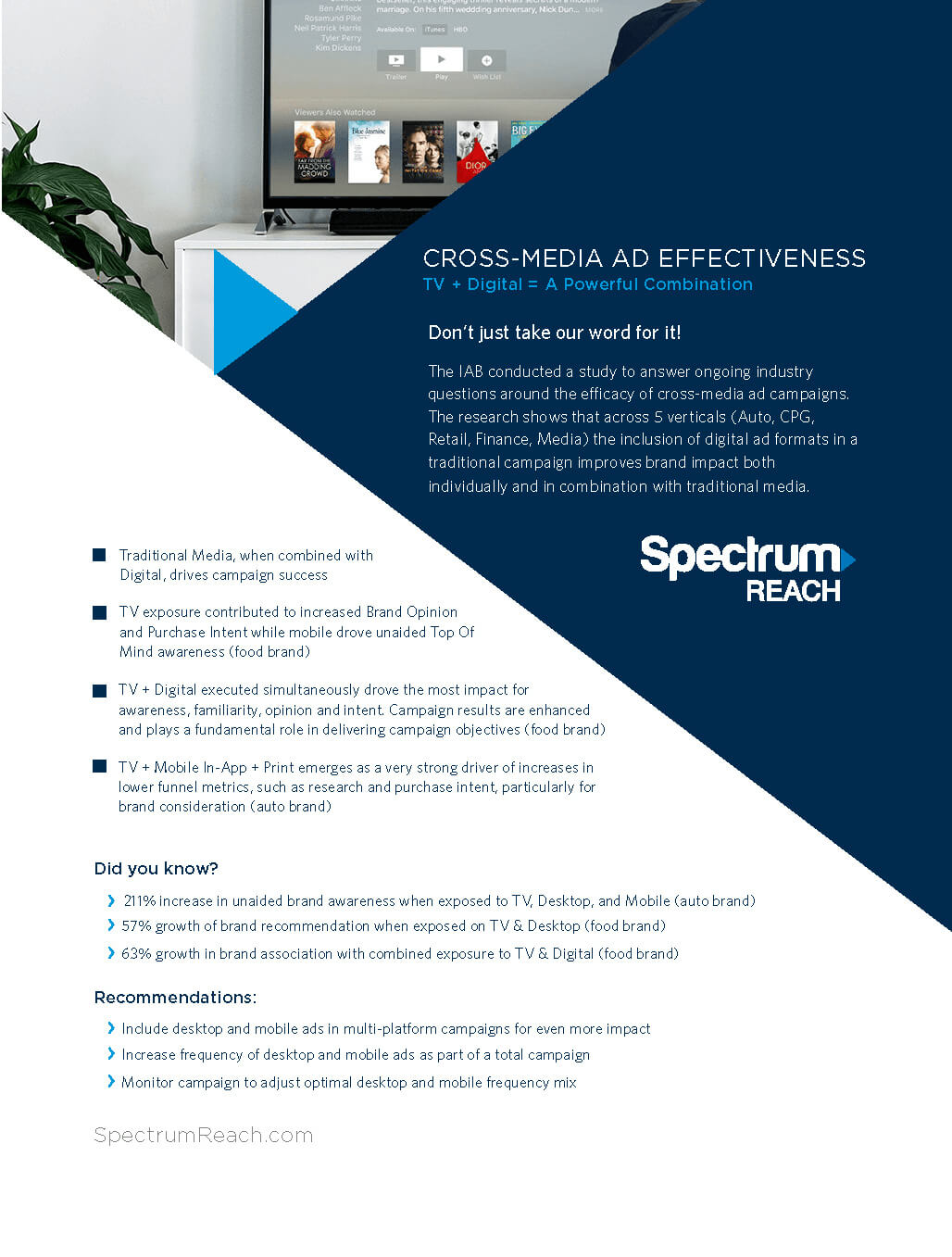 Spectrum Reach Ad Layout and Design by Consort Creative